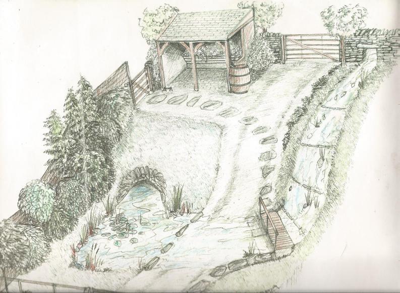 Lakeland-garden-sketch